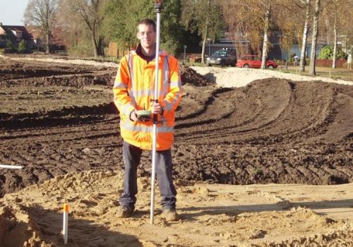 Uitzetten van grond-, weg- en waterbouwprojecten